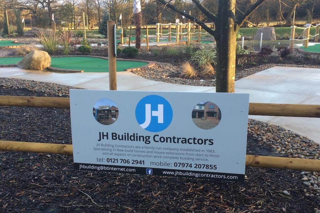 Jh building contractors four ashes golf centre for Contractors needed to build a house