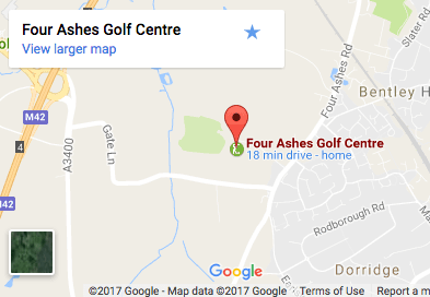 four-ashes-golf-centre-location-map