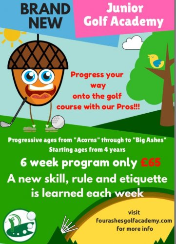 Juniors learn golf in a fun and structured way