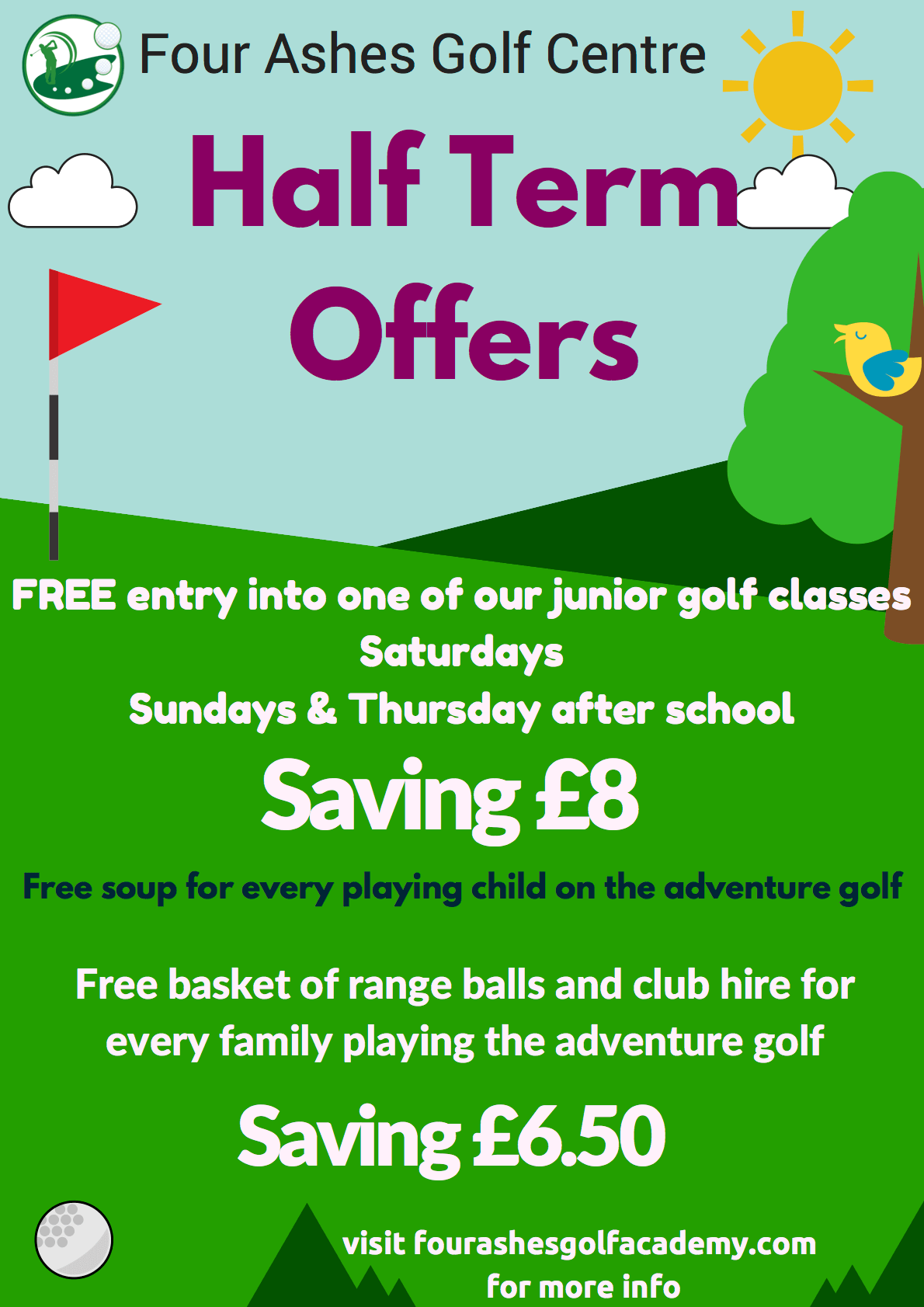 Four Ashes Golf Academy Half term Offers